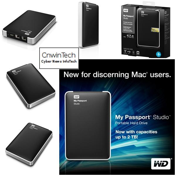 CNWINTECH Western Digital My Passport Studio 2TB Mac Western Digital Launches My Passport Studio 2 TB for Mac