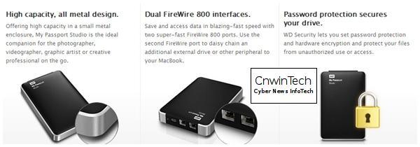 CNWINTECH Western Digital My Passport Studio 2TB Mac FireWire Western Digital Launches My Passport Studio 2 TB for Mac
